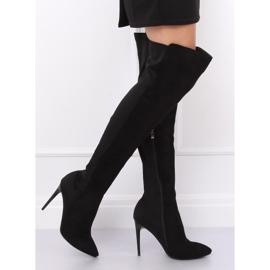 Zwarte dij-hoge laarzen zwart 0H010 zwart 5