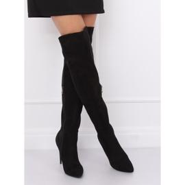 Zwarte dij-hoge laarzen zwart 0H010 zwart 2