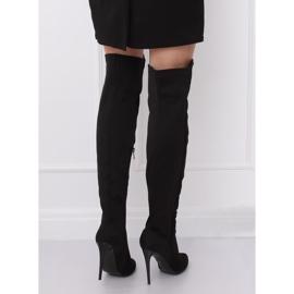 Zwarte dij-hoge laarzen zwart 0H010 zwart 3