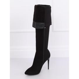 Zwarte dij-hoge laarzen zwart 0H010 zwart 4
