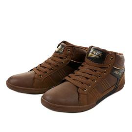 Bruine heren sneakers 15M749 2