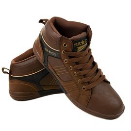 Bruine heren sneakers 15M749 3