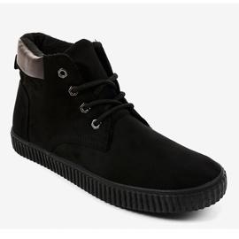 Zwarte geïsoleerde heren sneakers AN06 1