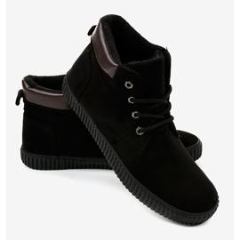 Zwarte geïsoleerde heren sneakers AN06 2