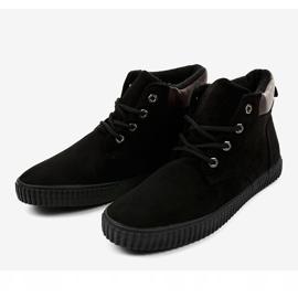 Zwarte geïsoleerde heren sneakers AN06 3