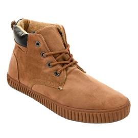 Bruine geïsoleerde heren sneakers AN06 1