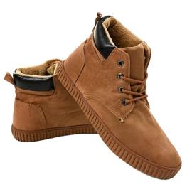 Bruine geïsoleerde heren sneakers AN06 2