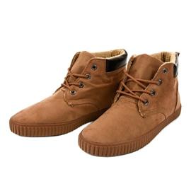 Bruine geïsoleerde heren sneakers AN06 3