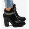 Zwarte laarzen op de paal met een ketting 13X992-51A afbeelding 2