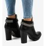 Zwarte laarzen op de paal met een ketting 13X992-51A afbeelding 3