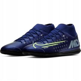 Nike Mercurial Superfly 7 Club Mds Ic Jr BQ5417-401 indoorschoenen marine marineblauw 3