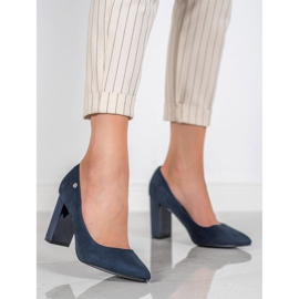 Goodin Suede Pumps On A Bar blauw 5