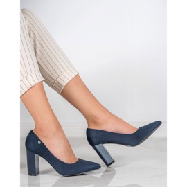 Goodin Suede Pumps On A Bar blauw 3