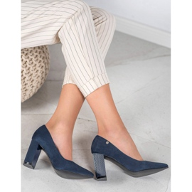 Goodin Suede Pumps On A Bar blauw 4