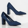 Goodin Suede Pumps On A Bar blauw 1
