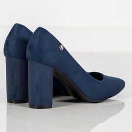 Goodin Suede Pumps On A Bar blauw 2