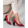 Goodin Suede Pumps On A Bar rood 2