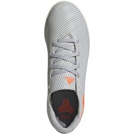 Adidas Nemeziz 19.4 In Jr EF8307 voetbalschoenen grijs oranje, grijs / zilver 1