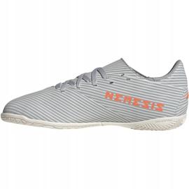 Adidas Nemeziz 19.4 In Jr EF8307 voetbalschoenen grijs oranje, grijs / zilver 2