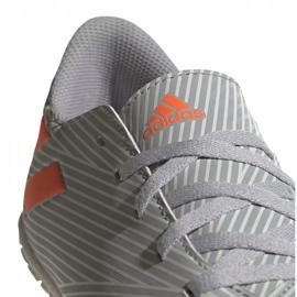 Adidas Nemeziz 19.4 In Jr EF8307 voetbalschoenen grijs oranje, grijs / zilver 4