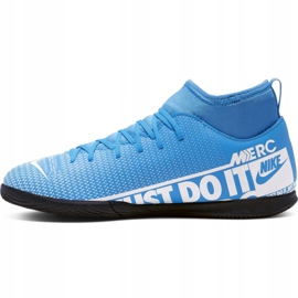Nike Mercurial Superfly 7 Club Ic Jr AT8153 414 voetbalschoenen blauw wit, blauw 1