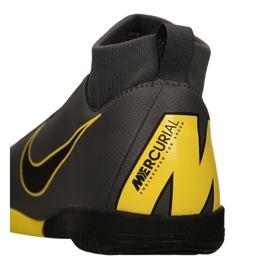 Nike Mercurial SuperflyX 6 Academy Gs Ic Jr AH7343-070 indoorschoenen grijs zwart, geel 3