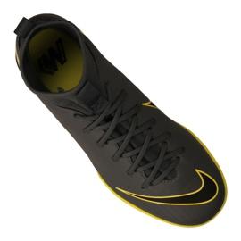Nike Mercurial SuperflyX 6 Academy Gs Ic Jr AH7343-070 indoorschoenen grijs zwart, geel 4