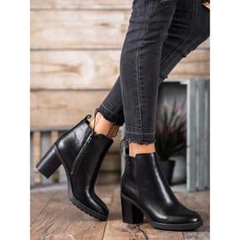 Ideal Shoes Comfortabele hoge hakken zwart 1