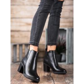Ideal Shoes Comfortabele hoge hakken zwart 2