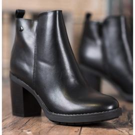 Ideal Shoes Comfortabele hoge hakken zwart 3