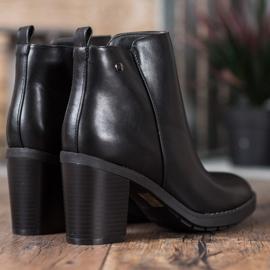 Ideal Shoes Comfortabele hoge hakken zwart 4