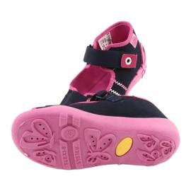 Slippers voor meisjes Velcro Befado 242p056 marineblauw roze 5
