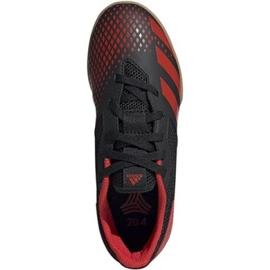 Adidas Predator 20.4 In Sala Jr EF1979 indoorschoenen zwart zwart, rood 2