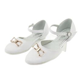 Hoffelijkheid ballerina schoenen Miko 707 wit 3