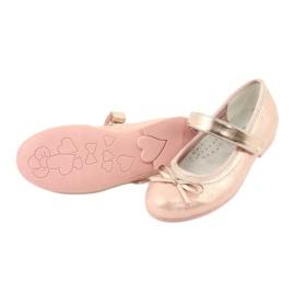 Golden Rose Ballerina's met de boog van American Club GC02 roze goud 4