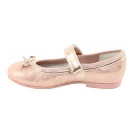 Golden Rose Ballerina's met de boog van American Club GC02 roze goud 2