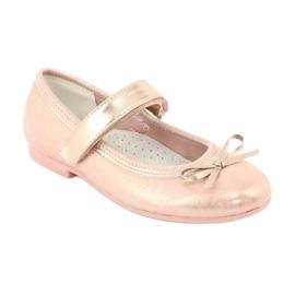 Golden Rose Ballerina's met de boog van American Club GC02 roze goud 1
