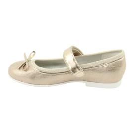 Gouden ballerina's met American Club boog GC03 / 20 2
