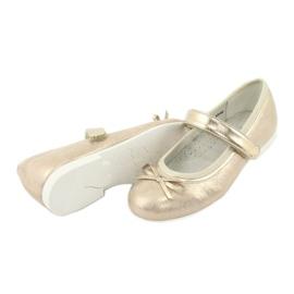 Gouden ballerina's met American Club boog GC03 / 20 4
