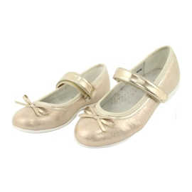 Gouden ballerina's met American Club boog GC03 / 20 3