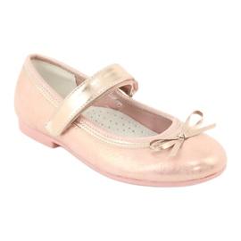 Golden Rose Ballerina's met American Club strik GC03 / 20 roze geel 1