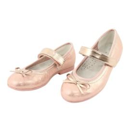 Golden Rose Ballerina's met American Club strik GC03 / 20 roze geel 3
