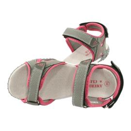 American Club RL26 / 20 grijs / perzik sandalen 4