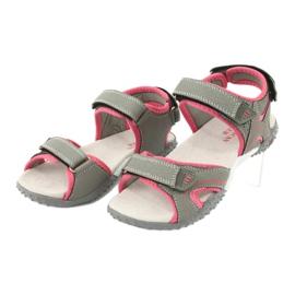American Club RL26 / 20 grijs / perzik sandalen 2
