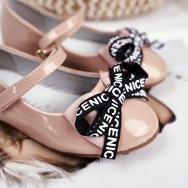 S.Barski Bar Beige Kinder Ballerina's Mindi Klittenband 4