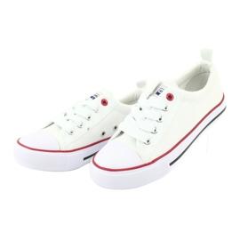 American Club Witte Amerikaanse LH25 geknoopte sneakers 3