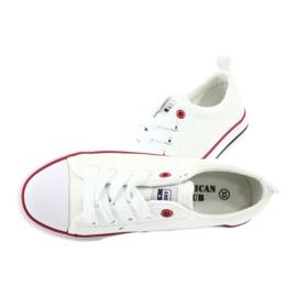 American Club Witte Amerikaanse LH25 geknoopte sneakers 5