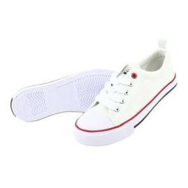 American Club Witte Amerikaanse LH25 geknoopte sneakers 4