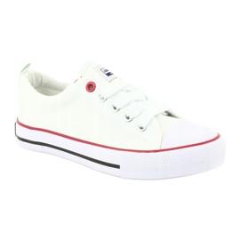 American Club Witte Amerikaanse LH25 geknoopte sneakers 1