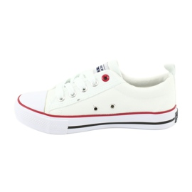American Club Witte Amerikaanse LH25 geknoopte sneakers 2
